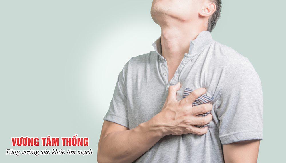 Đau thắt ngực là biểu hiện đặc trưng của bệnh mạch vành
